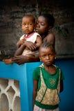 Afryka, sierra leone mała wioska Mabendo Obraz Stock