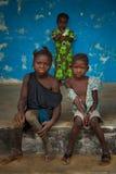 Afryka, sierra leone mała wioska Mabendo Obraz Royalty Free
