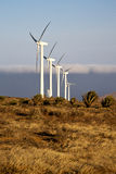 Afryka silniki wiatrowi i niebo w wyspie Zdjęcie Stock