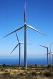 Afryka silniki wiatrowi Lanzarote Spain i niebo Obrazy Stock