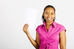 afrykańska biznesowa kobieta Fotografia Stock