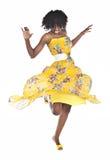 afrykańska dancingowa kobieta Zdjęcia Royalty Free