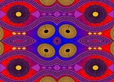 Afrykańska druk tkanina, Etniczny handmade ornament dla, twój projekta, Etnicznych i plemiennych motywów geometrycznych elementów Royalty Ilustracja
