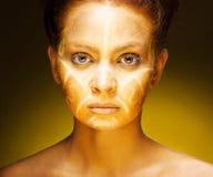 afrykańska egzotyczna twarzy mody kobieta Obrazy Royalty Free