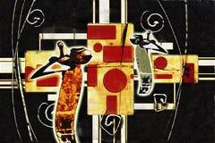 Afrykańska etniczna retro rocznik ilustracja Fotografia Stock
