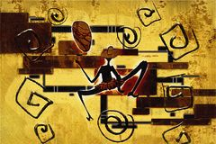 Afrykańska etniczna retro rocznik ilustracja Zdjęcie Royalty Free