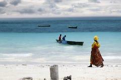 Afrykańska kobieta w tradycyjnej sukni Fotografia Royalty Free