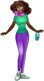 Afrykańska nastoletnia dziewczyna W TShirt I spodniach Fotografia Royalty Free