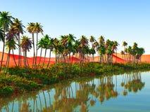Afrykańska oaza Obraz Stock
