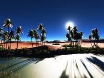 Afrykańska oaza Zdjęcia Royalty Free