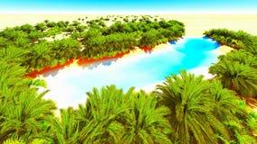Afrykańska oaza Obrazy Royalty Free