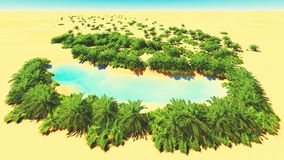 Afrykańska oaza Fotografia Stock