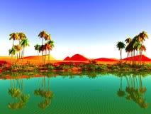Afrykańska oaza Zdjęcie Royalty Free