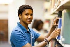 Afrykańska studencka biblioteka Zdjęcia Royalty Free