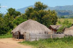 afrykańska wioska Zdjęcia Stock