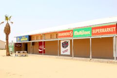 Afrykańska zakupy centrum handlowego supermarketa koka-kola, Namibia Obrazy Royalty Free