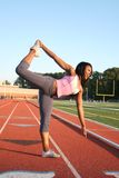 afrykański amrican napadu modela pozy joga Obrazy Royalty Free