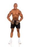 Afrykański bodybuilder szkolenie Obraz Royalty Free