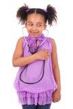Afrykański dziecko z stetoskopem Obraz Royalty Free