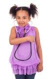 Afrykański dziecko z stetoskopem Obrazy Stock