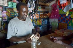 afrykański handlarz Fotografia Royalty Free