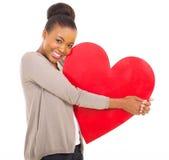 Afrykański kobiety serce Obrazy Stock