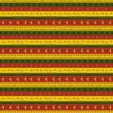 Afrykański ornament horyzontalni lampasy Obrazy Royalty Free