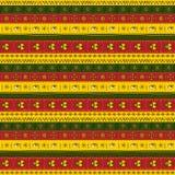 Afrykański ornament stubarwny Zdjęcia Stock