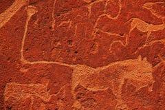 afrykański petroglif Zdjęcie Royalty Free