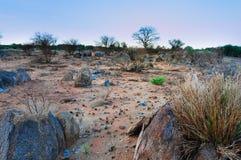 Afrykański skalisty krajobraz Obrazy Royalty Free