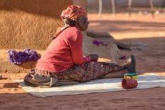 Afrykański starszy portret Fotografia Royalty Free