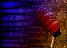 Afrykański szalik, portreta Afro kobieta w tradycyjnym turbanie Plemienna Kierownicza opakunek moda, Ankara, Kente, kitenge adama ilustracja wektor
