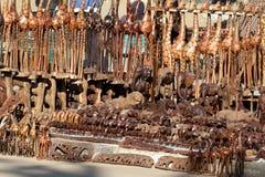 Afrykański turysty rynek w Namibia w Afryka Fotografia Stock