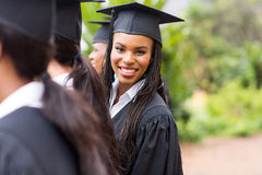 Afrykański uniwersyteta absolwent Zdjęcia Royalty Free