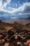 Afrykański widok Ngorongoro krater Obrazy Stock