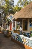 afrykański wioski Tradycyjny etniczny plemienny obrazu styl Zdjęcia Royalty Free