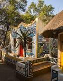 afrykański wioski Tradycyjny etniczny plemienny obrazu styl Obraz Stock