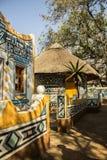 afrykański wioski Tradycyjny etniczny plemienny obrazu styl Obrazy Royalty Free