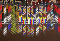 Afrykańskich etnicznych handmade koralików kolorowi krawaty flaga na afryce Obrazy Stock