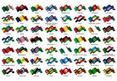 afrykańskie flaga Obrazy Royalty Free