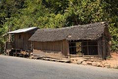 Afrykańskie malagasy budy w Andasibe regionie Fotografia Stock