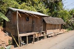 Afrykańskie malagasy budy w Andasibe regionie Zdjęcie Royalty Free