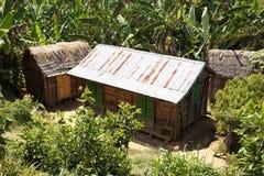 Afrykańskie malagasy budy w Andasibe regionie Zdjęcia Royalty Free