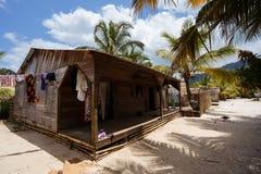 Afrykańskie malagasy budy w Maroantsetra regionie, Madagascar Zdjęcie Royalty Free