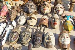 Afrykańskie maski Zdjęcie Royalty Free