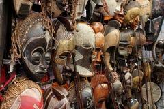 Afrykańskie Maski Zdjęcie Stock