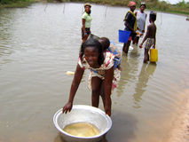 afrykańskie rzeczne kobiety zdjęcia stock