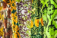 Afrykańskie tkaniny od Ghana, afryka zachodnia Fotografia Royalty Free