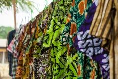 Afrykańskie tkaniny od Ghana, afryka zachodnia Fotografia Stock