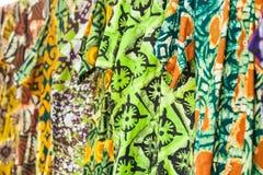 Afrykańskie tkaniny od Ghana, afryka zachodnia Zdjęcie Stock